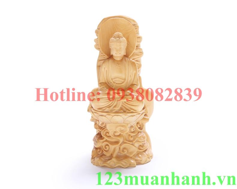 Tượng gỗ Phật Thích Ca Thiền Định