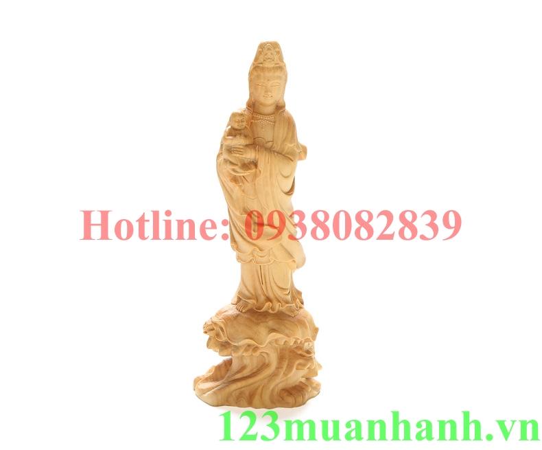 Tượng gỗ Quan Âm Tống Tử