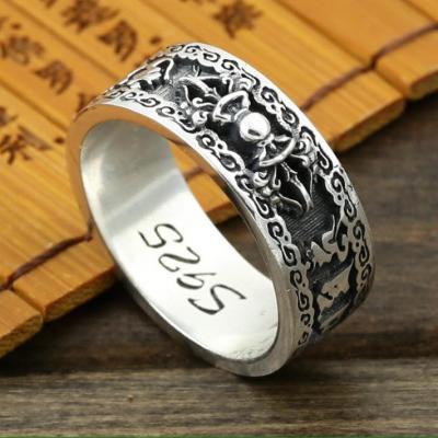 Nhẫn khắc Om Mani và Kim Cang Luân