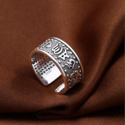 Nhẫn khắc Om Mani và Bát nhã tâm kinh