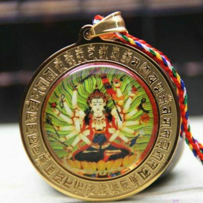 Dây chuyền Phật Chuẩn Đề và Kính Đàn OMN961
